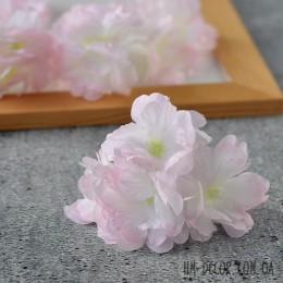 Цветы вишни махровые бело-розовые 4 шт.
