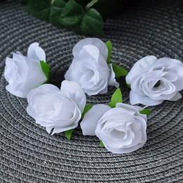 Головка розы Клео белая 4 см 1 шт.