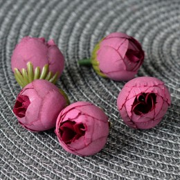 Бутон ранункулюса вишневый 2,5 см 1 шт.