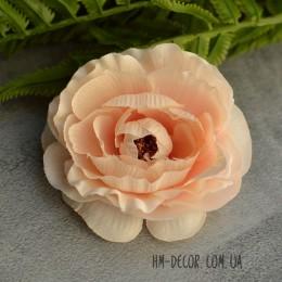 Головка камелии Хлоя нежно-персиковая 9 см