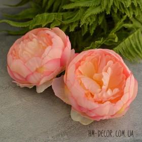 Головка пиона с серединкой розово-персиковая 10 см 1 шт.