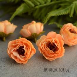 Головка розы Александра абрикосовая 4 см 1 шт.
