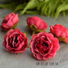 Головка розы Александра малиновая 4 см 1 шт.