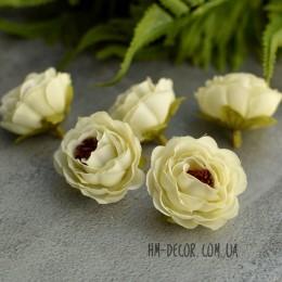 Головка розы Александра айвори 4 см 1 шт.