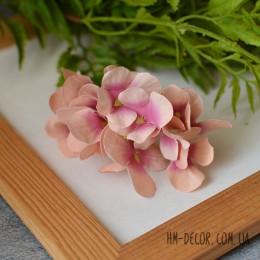 Гортензия New кремово-розовая веточка 8 см