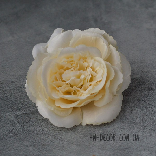 Головка розы Мери ванильная 12 см