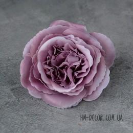 Головка розы Мери дымчато-сиреневая 12 см