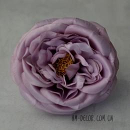Головка английской розы макси дымчато-сиреневая 13 см
