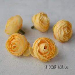 Головка ранункулюса Донна светло-желтая 3,5 см 1 шт.