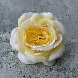 Головка розы Мери светло-желтая 12 см