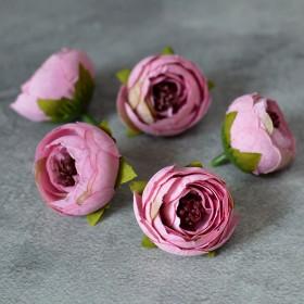 Головка ранункулюса Есения розовая 4 см