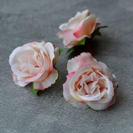 Головка розы Дрим нежно-персиковая 5 см 1 шт.