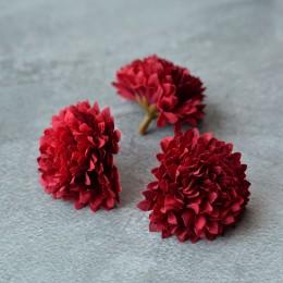 Головка хризантемы темно-красная 5 см 1 шт.