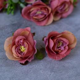 Головка розы Глория дымчато-розовая 5 см 1 шт.