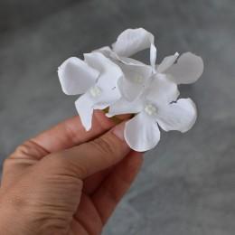Гортензия веточка белая крупная 8 см