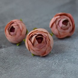Головка ранункулюса Есения розовая пудра 4 см