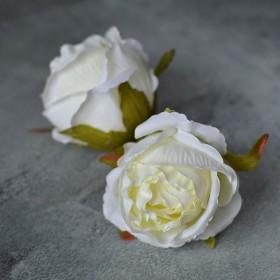 Головка розы Стефания айвори 8 см 1 шт.