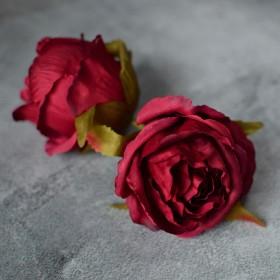 Головка розы Стефания вишневая 8 см 1 шт.