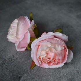 Головка розы Стефания кремово-розовая 8 см 1 шт.