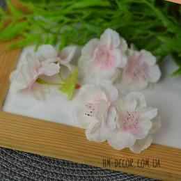 Цветок вишни двойной бело-розовый