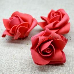 Головка розы фоамиран красная 5 см