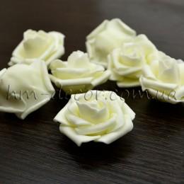Головка розы фоамиран вишневая 5 см