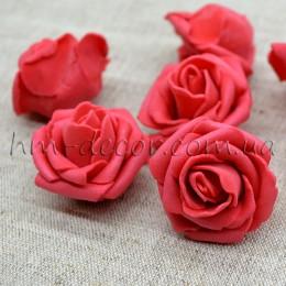 Головка розы фоамиран красная 4 см