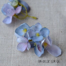 Цветочная веточка Акварель голубая 8 см