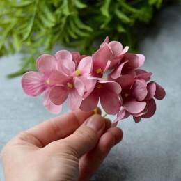 Гортензия New дымчато-розовая веточка 8 см
