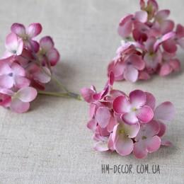 Гортензия веточка пепельно-розовая 8 см