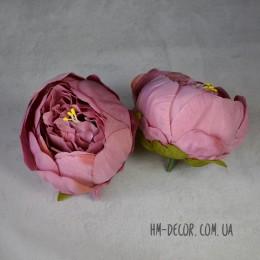Головка пиона Канзас пепельно-розовая 8 см