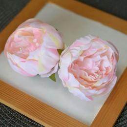 Головка пиона Канзас кремово-розовая 8 см