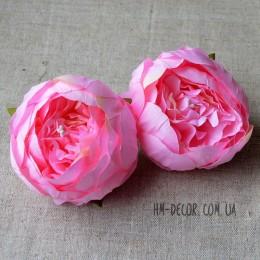 Головка пиона Канзас розовая 8 см