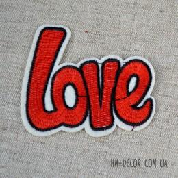 Термоаппликация Love 8*6.5 см