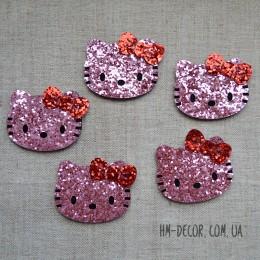 Декор Хелло Китти блеск розовая 5*4,5 см