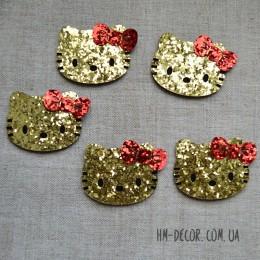 Декор Хелло Китти блеск золото 5*4,5 см