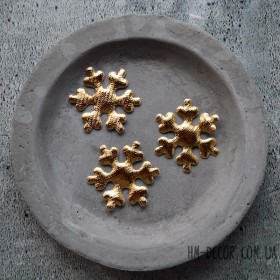 Снежинка Блеск золото 5 см 1 шт.