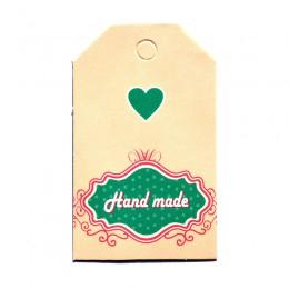 """Бирка для оформления подарков """"Hand Made"""" бежевая"""