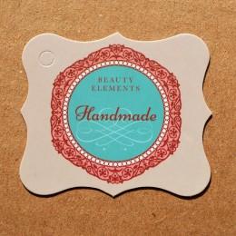 """Бирка для оформления подарков """"Handmade"""" бежевая"""