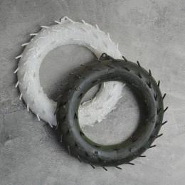 Основа для венка пластиковая с зубчиками зеленая б/у 18 см