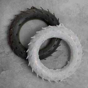 Основа для венка пластиковая с зубчиками белая б/у 18 см