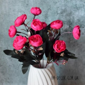 Букет роз пионовидный малиновый 30 см