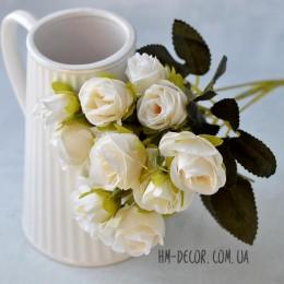 Букет роз Мишель светло-кремовый 35 см