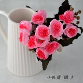 Букет роз пионовидный розовый 30 см