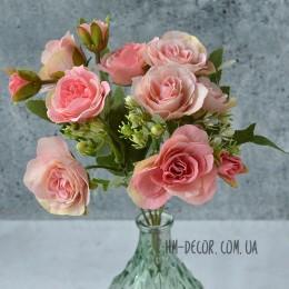 Букет роз Прованс персиковый 30 см