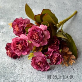 Букет роз Александра вишневый 30 см