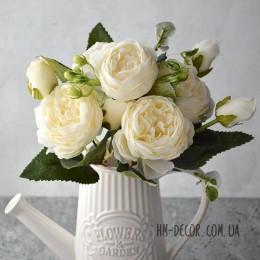 Букет роз Эвелин айвори 30 см