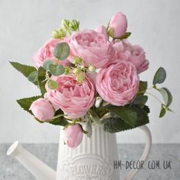 Букет роз Эвелин нежно-розовый 30 см