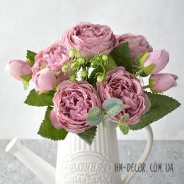 Букет роз Эвелин пепельно-лиловый 30 см
