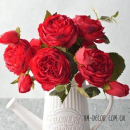Букет роз Эвелин красный 30 см